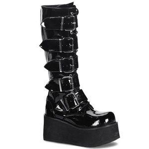 Demonia Trashville-518 Platform Knee High Boots